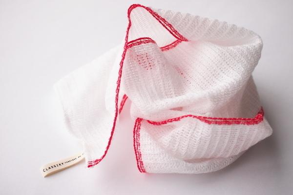とうもろこし繊維のボディタオル