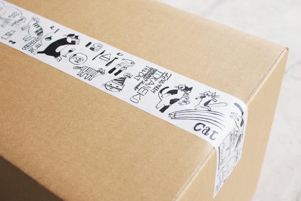 猫の梱包テープ