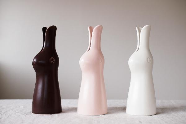 鹿児島陸/ウサギの花器